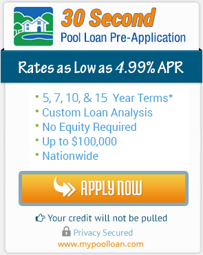 Swimming pool loans swimming pool financing ams for Pool financing